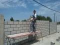 Construcción de paredes de bloque