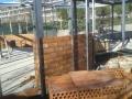 Construcción de quiosco en circunferencia para MLN