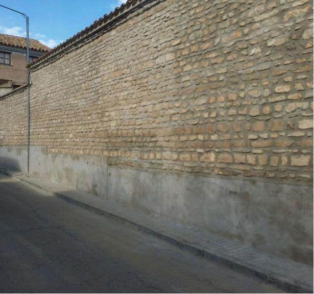 Saneado y rejuntado de pared
