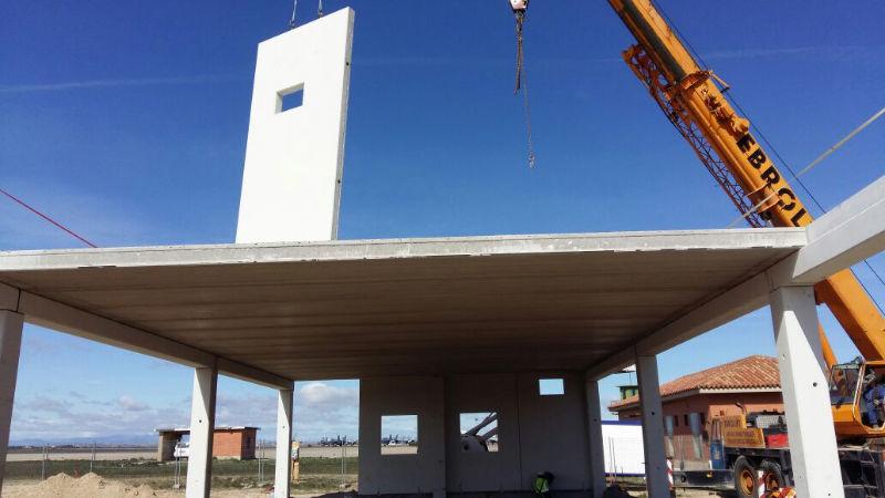 Construcción de la cámara de reguladores en la Base Militar de Zaragoza