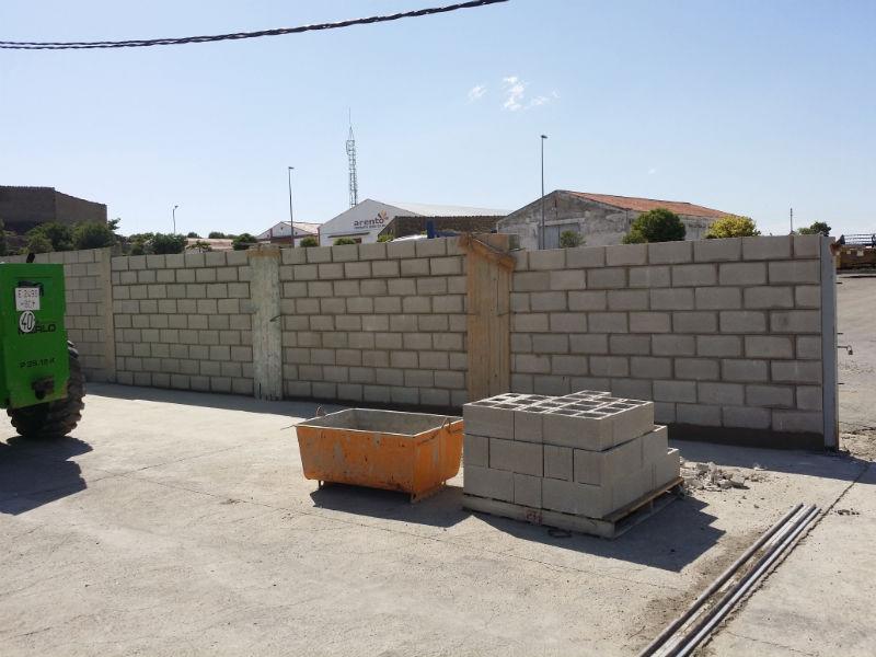 Construcción paredes de bloque