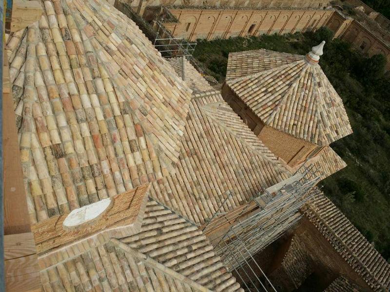 Rehabilitación del tejado del Monasterio de La Cartuja de las Fuentes para Linzola